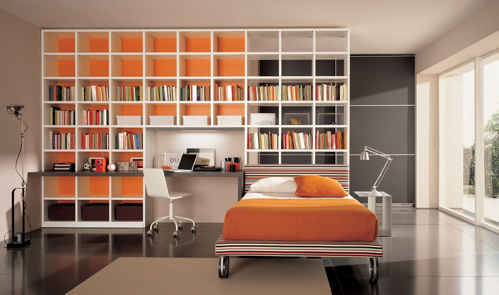 for Home library study design ideas